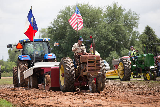 Texas tractor pull stock photo