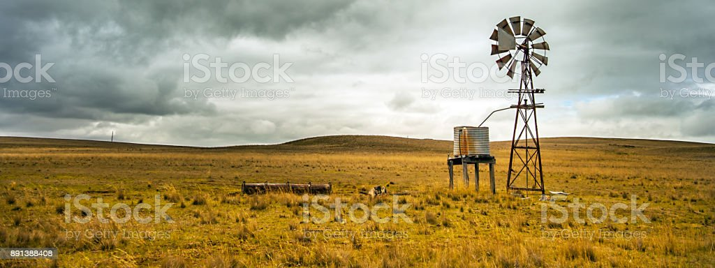 Texas Wheel in the Outback at Tumut New South Wales Australia stock photo