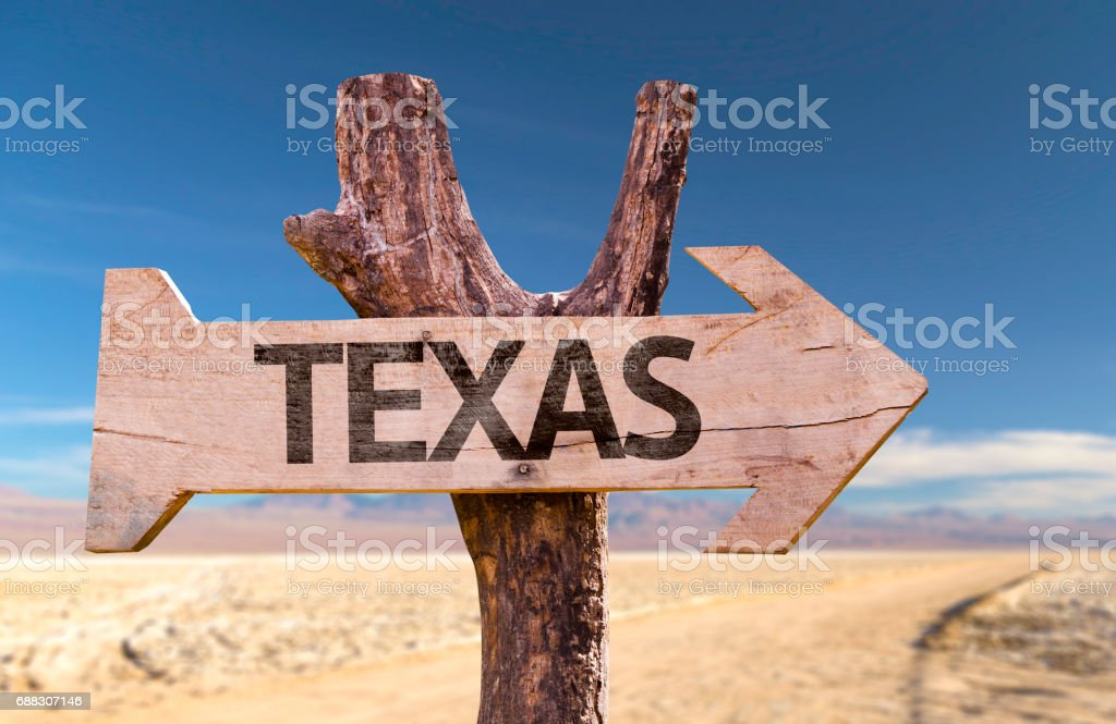 Texas wooden sign stock photo