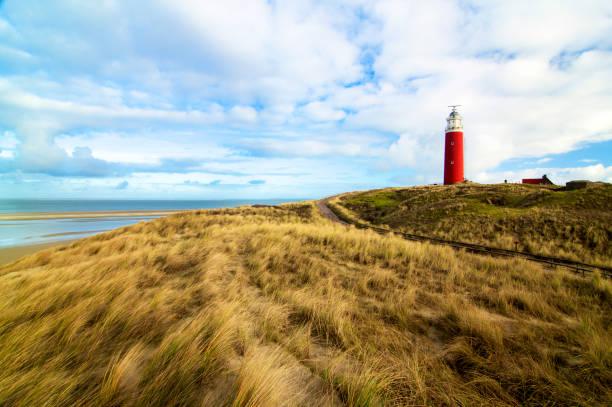 Texel Lighthouse Netherlands stock photo