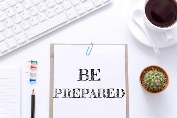 text be prepared on white paper background / business concept. - klavier verkaufen stock-fotos und bilder