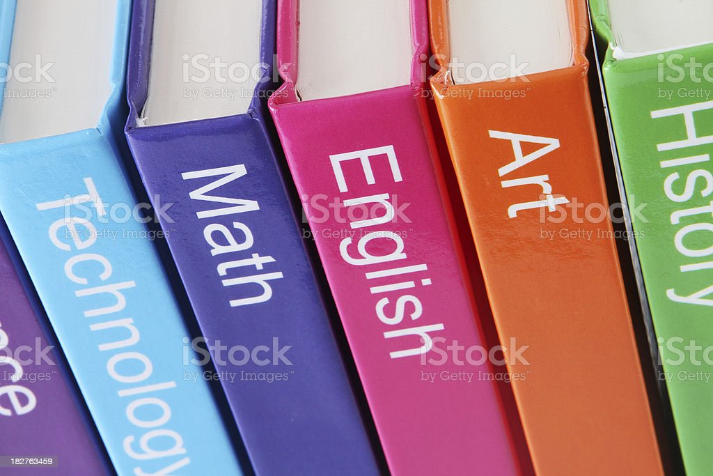 Text Books stock photo