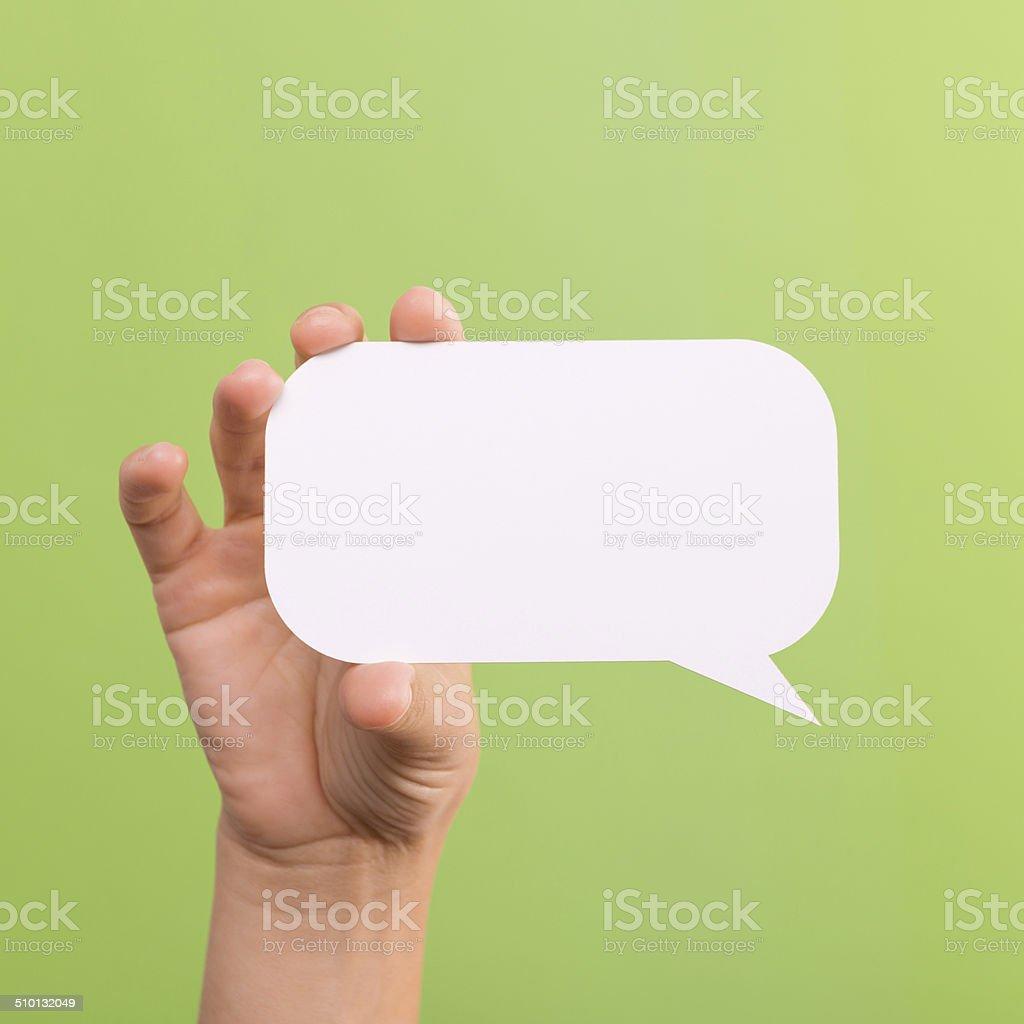 Text Bubble stock photo