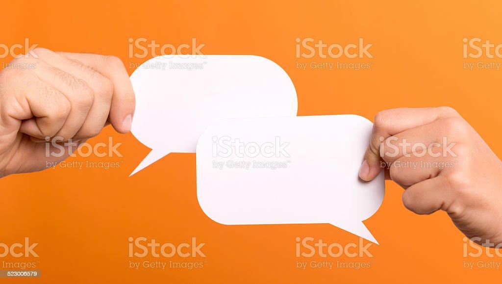 Bolhas de texto - foto de acervo