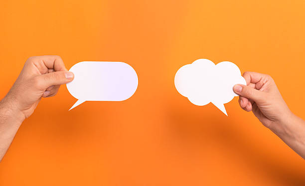 text bubbles - thought bubble stock photos and pictures
