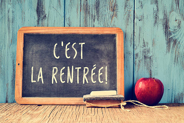 text cest la rentree, back to school in french - back to school 個照片及圖片檔