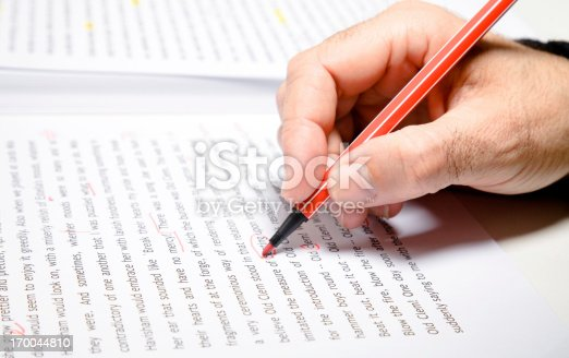istock Text correction, proofreader 170044810