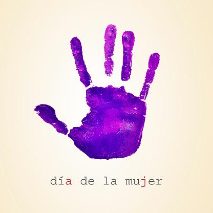 text dia de la mujer, womens day in spanish