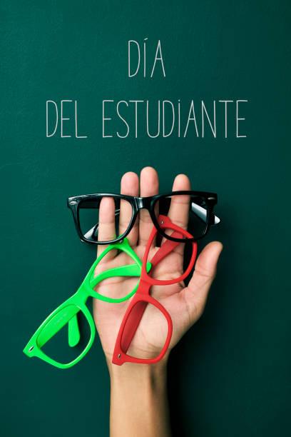 텍스트 직경 del estudiante, 학생 일, 스페인어 - estudiante 뉴스 사진 이미지
