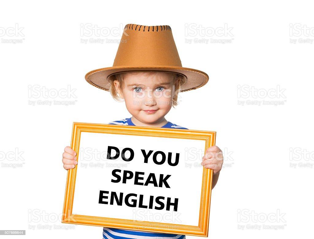 テキストは英語を話します。 ストックフォト