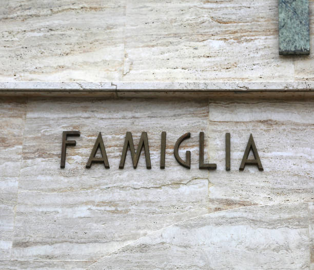 text FAMIGLIA that means Family in Italian Language big text FAMIGLIA that means Family in Italian Language famiglia stock pictures, royalty-free photos & images