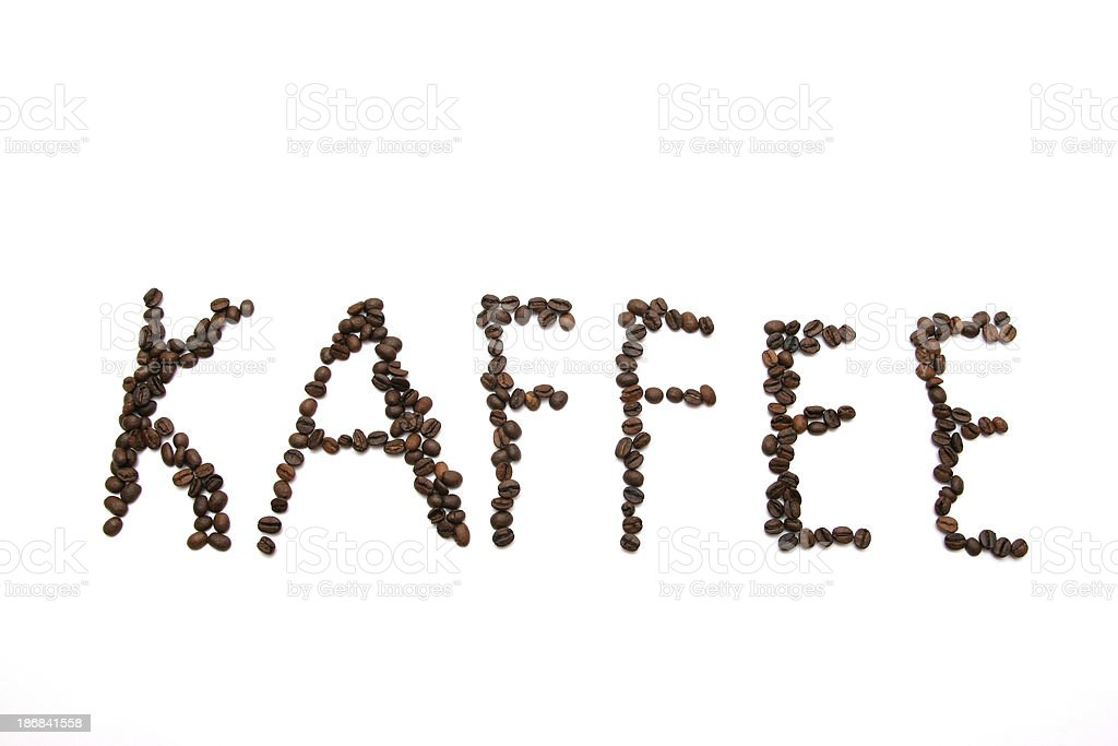 KAFFEE Text from Beans royalty-free stock photo