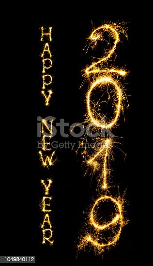istock Text Happy New Year 2019 1049840112