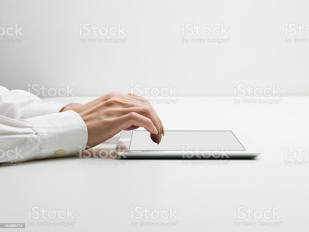 Text input on the Tablet PC royalty-free stock photo