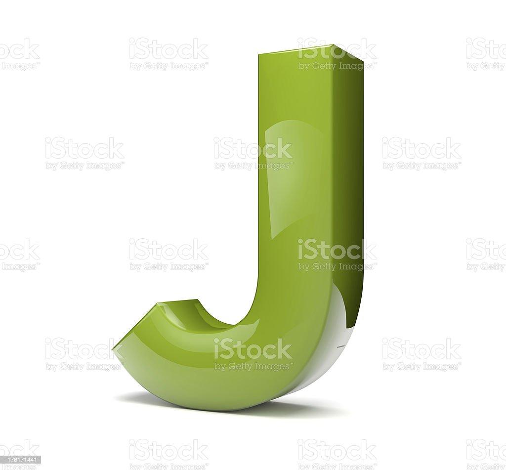 text J royalty-free stock photo