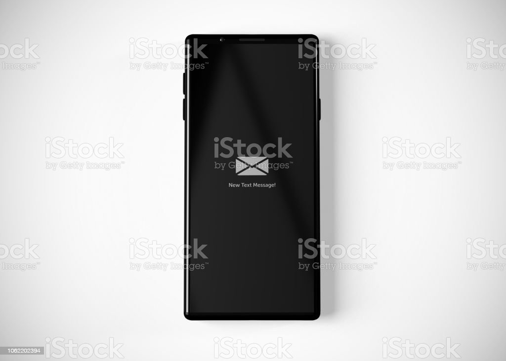 Text Message Notification stock photo