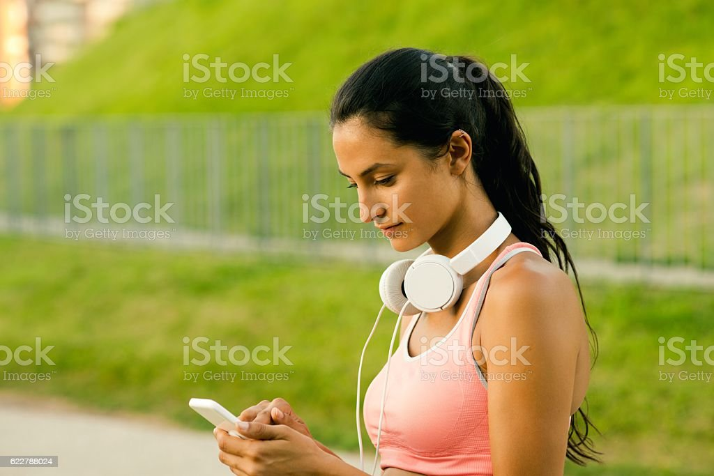 Text messaging. stock photo