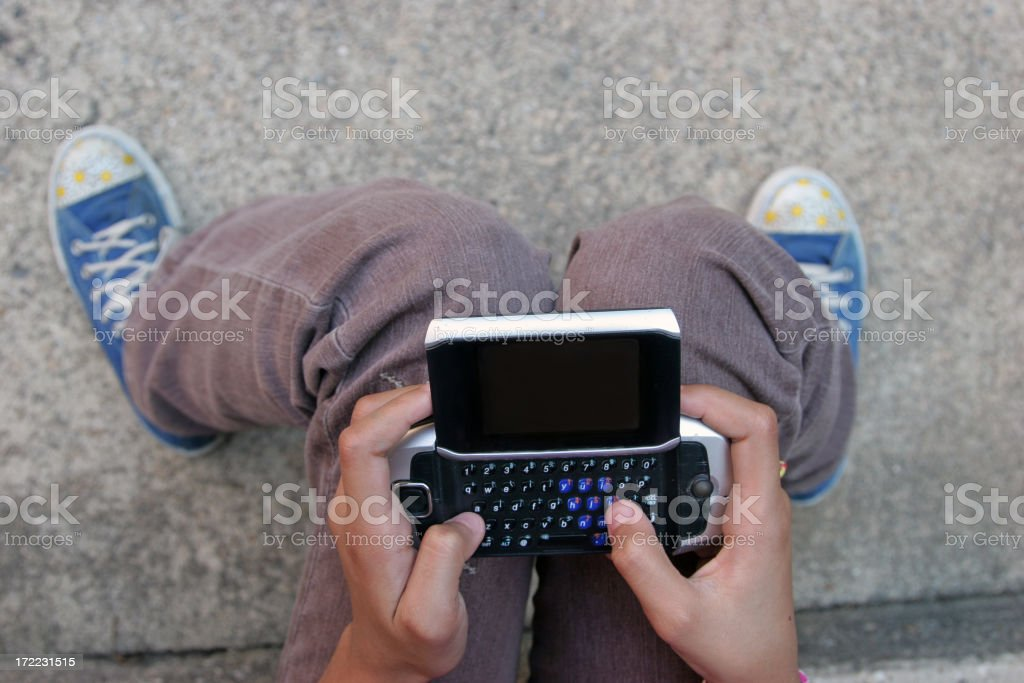 Text Messaging Teen royalty-free stock photo