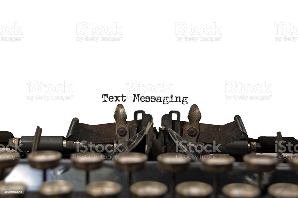 Text Messaging written on antique typewriter royalty-free stock photo