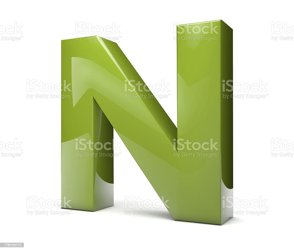 text N royalty-free stock photo