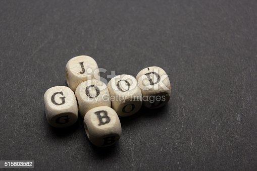 istock GOOD JOB text on a wooden cubes 515803582