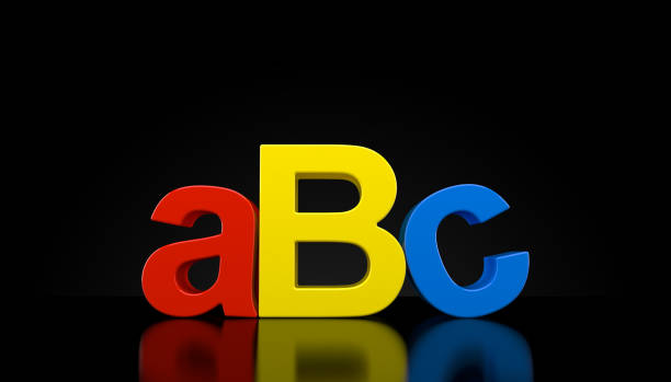 Texte de l'ABC sur fond noir - Photo