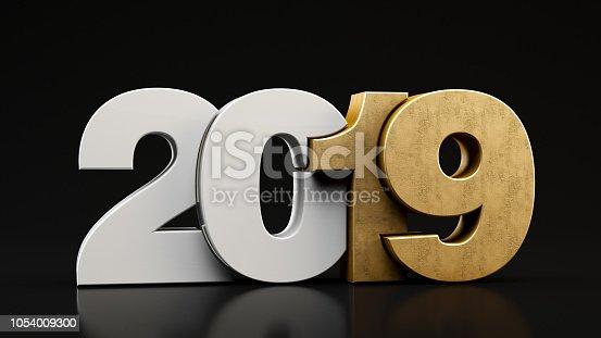 istock 2019 Text on Black Background 1054009300