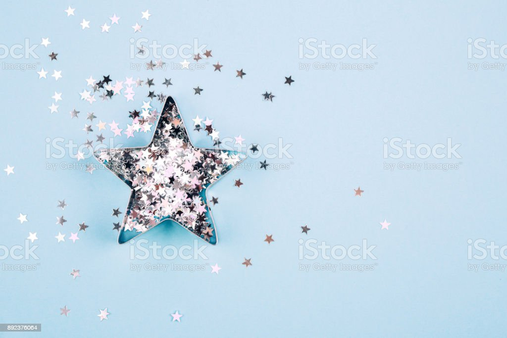 Text on blue background stock photo