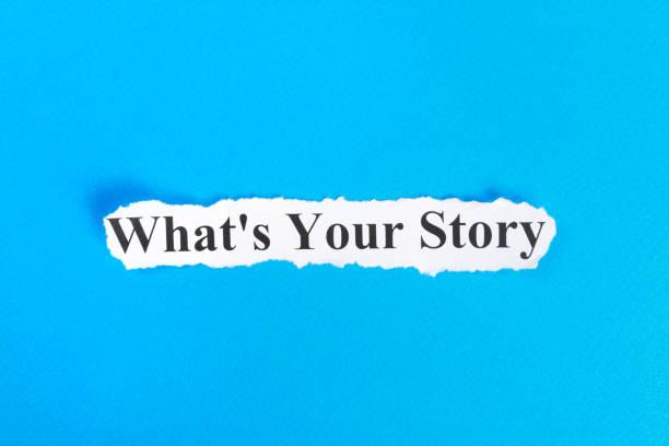 quelle est votre histoire texte sur papier. word quoi de votre histoire sur papier déchiré. concept image - titre mondial photos et images de collection