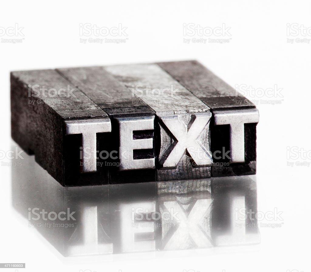 Text royalty-free stock photo