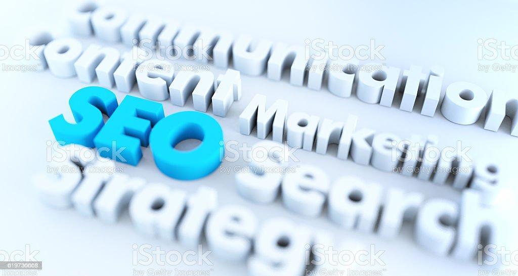 3D SEO text – zdjęcie