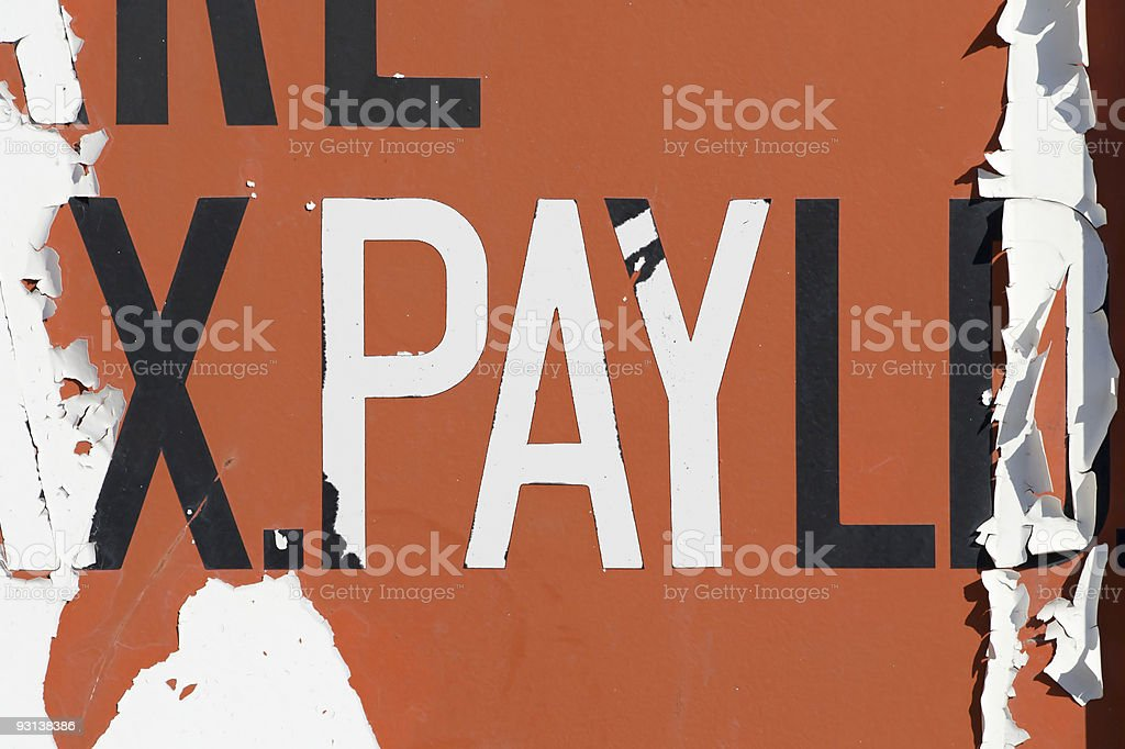 PAY text royalty-free stock photo