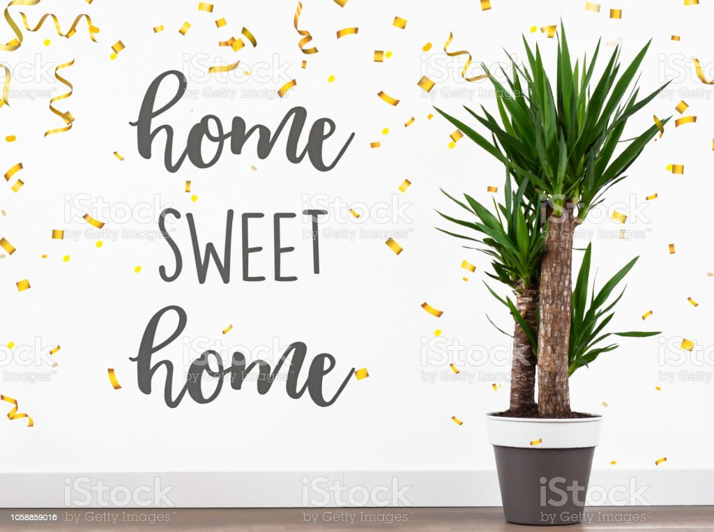 Text Quote Home Sweet Home In New House Welcome Back Stock Photo Download Image Now Istock