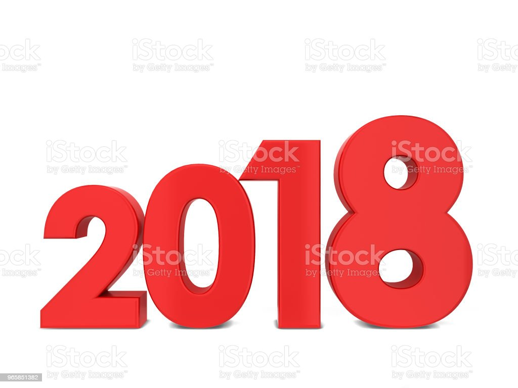 2018 text sign - Royalty-free 2018 Stock Photo