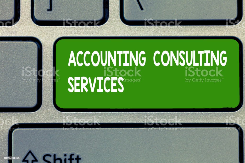 Text sign showing Accounting Consulting Services. Conceptual photo...