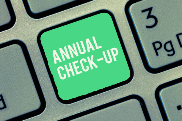 Text sign showing Annual Check Up. Conceptual photo yearly evaluation and examination of demonstrating s is health status stock photo