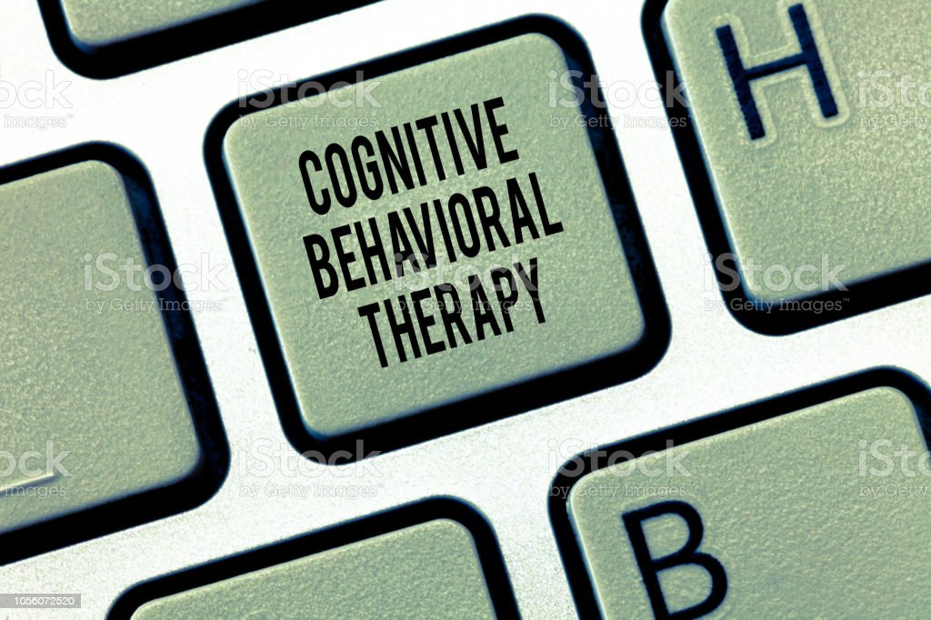 Text sign showing Cognitive Behavioral Therapy. Conceptual photo Psychological treatment for mental disorders stock photo