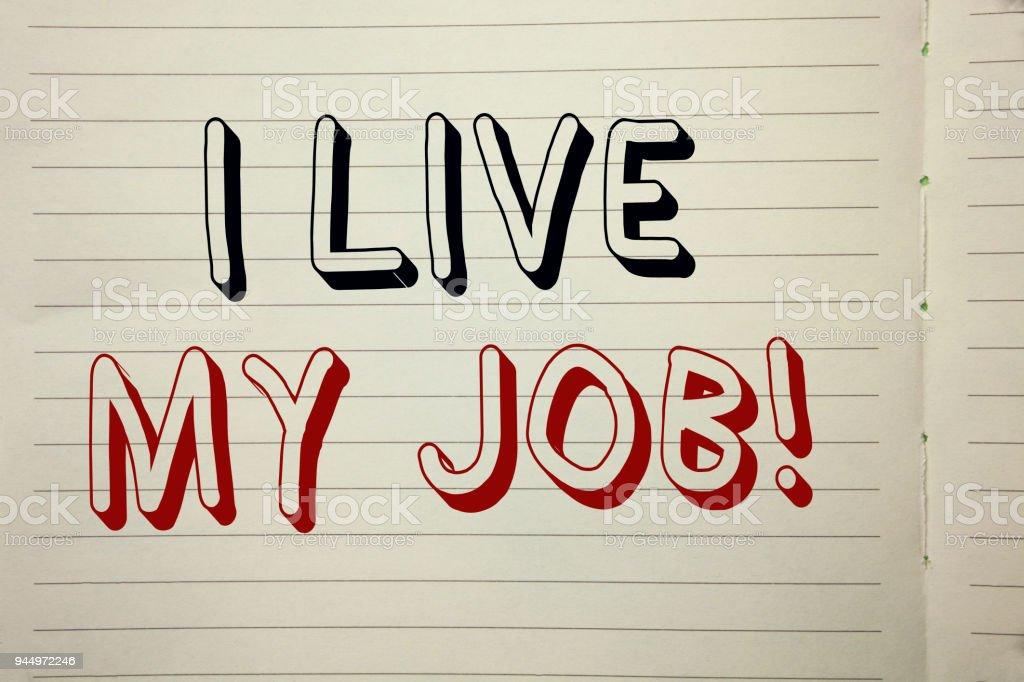 Muestra De Texto Mostrando Vivo Mi Trabajo Motivacional