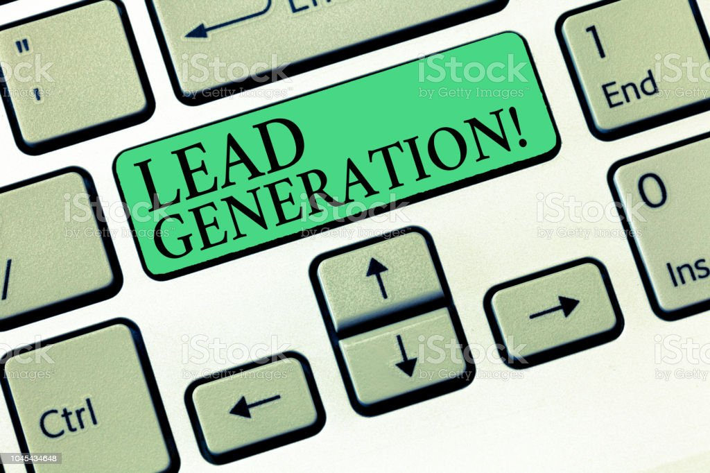 Text sign showing Lead Generation. Conceptual photo initiation of consumer interest or enquiry into products stock photo