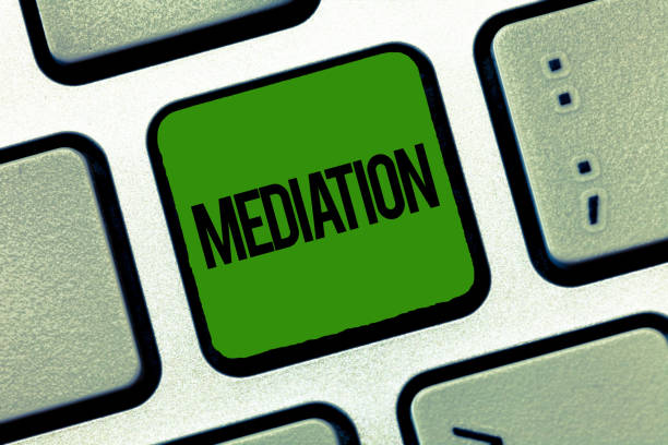 Text sign showing Mediation. Conceptual photo intervention dispute in order to resolve it Arbitration Relaxation stock photo