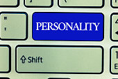 Text sign showing Personality. Conceptual photo Characteristics Qualities form individual distinctive character.