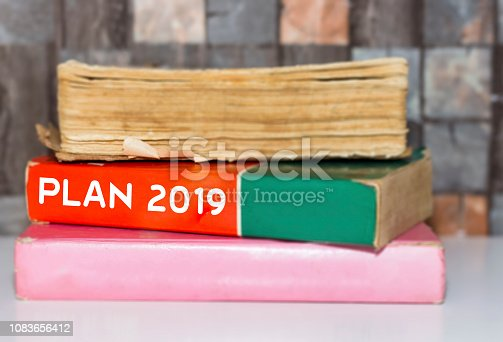 1076095678 istock photo Text sign showing Plan 2019 1083656412