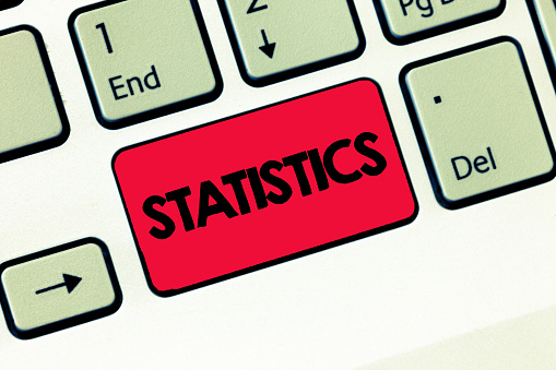 istock Text sign showing Statistics. Conceptual photo Science Collecting analyzing numerical data in large quantities 1049738686