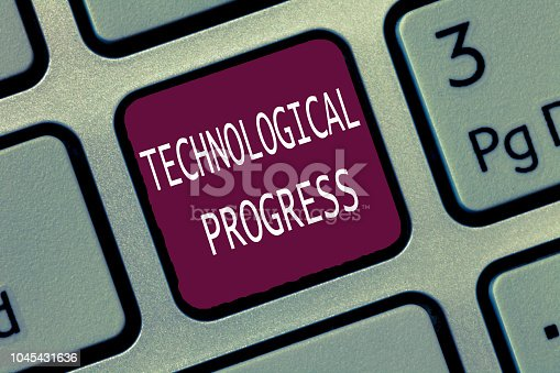 477843023 istock photo Text sign showing Technological Progress. Conceptual photo overall Process of Invention Innovation Diffusion 1045431636