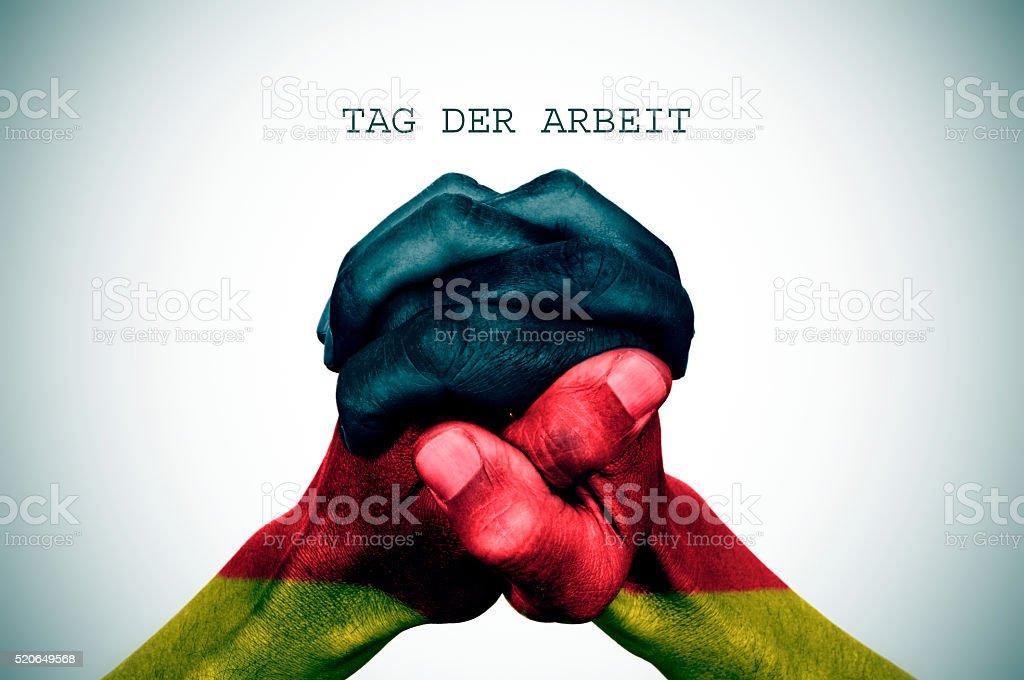 Texte balise der arbrit, la fête du travail en Allemagne - Photo