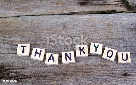 istock Text: Thankyou from wooden letters 526546806