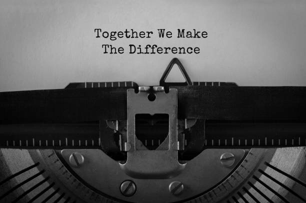 Text together we make the difference typed on retro typewriter picture id843701502?b=1&k=6&m=843701502&s=612x612&w=0&h=dxjnl  e y7igeqgp 2mhuqnmgrglhavkw9 aah0jh4=