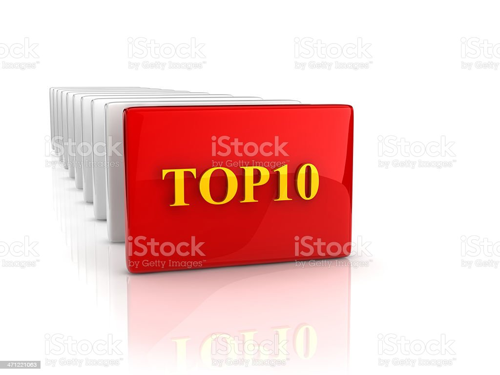 text 'TOP10' royalty-free stock photo
