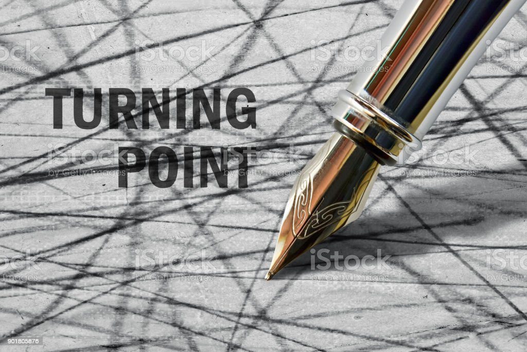 Text Turning Point stock photo