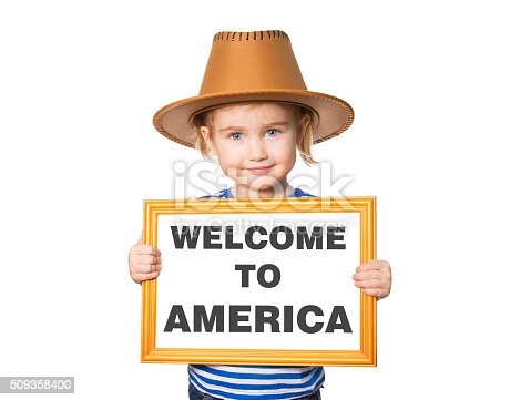 istock Text welcome to America. 509358400